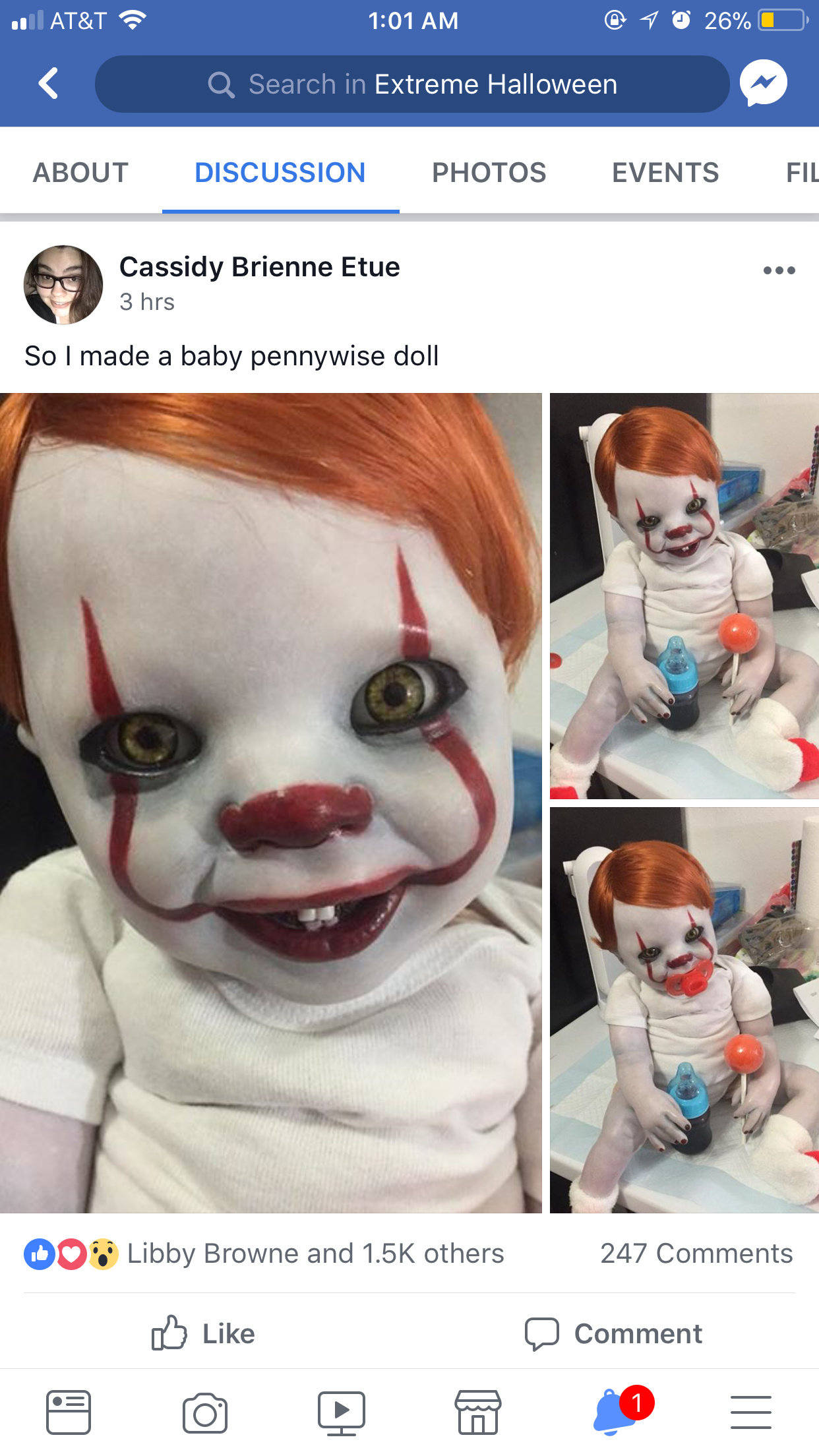 Baby Pennywise Caution Alternative Doll Reborn