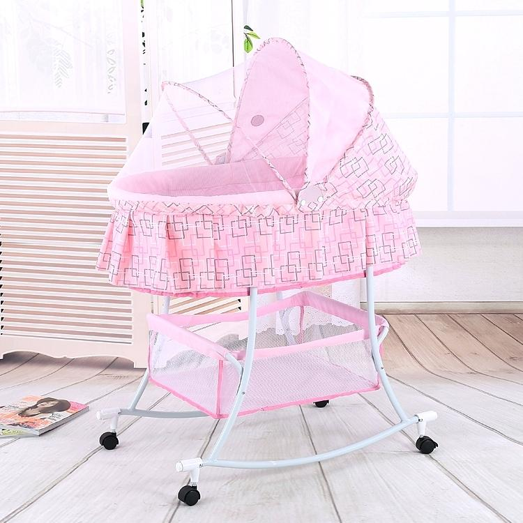 pink-baby-bassinet-free-shipping-metal-crib-rocking-bed-cradle-cot-stroller-with-fabric-mosquito-net-infant-in-from-mother-kids-on-camo
