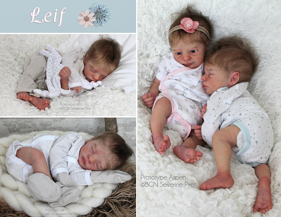 New Realborn 174 Twins Aspen And Leif Prototypes